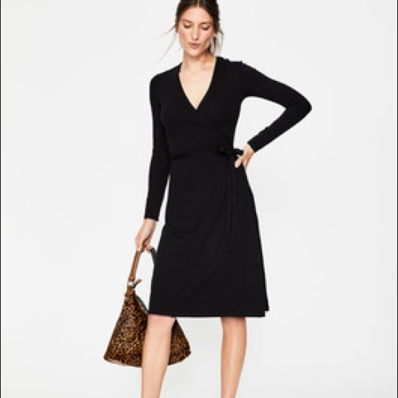 763e94c6b4a Boden Dresses   Skirts - Boden black wrap jersey dress size 12LONG